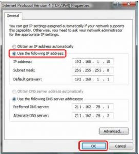 dns_probe_finished_nxdomain error solution using TCP/IP4