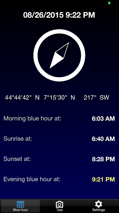 BlauTime - Blue hour- screenshot