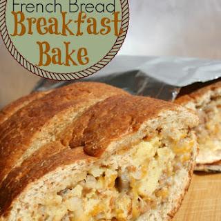 Cheesy French Bread Breakfast Bake