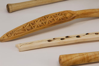 Photo: Ed Karch spoons (detail)  [maple, white birch, crape myrtle]