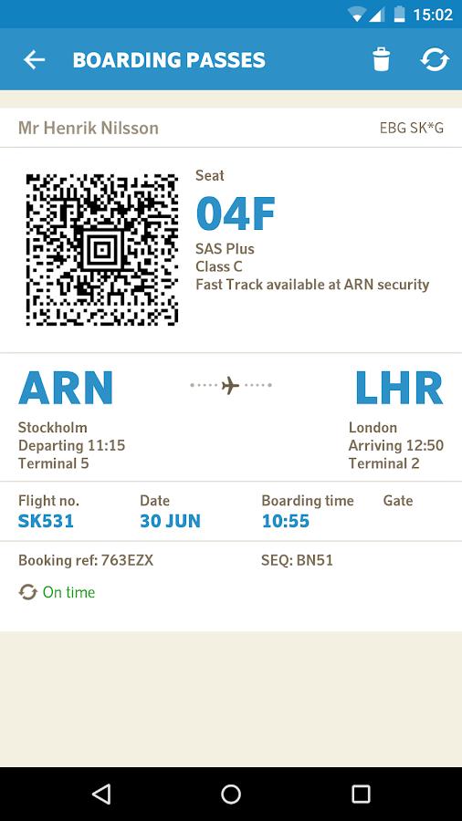 SAS Scandinavian Airlines - screenshot