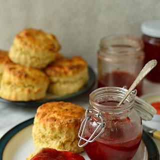 Strawberry Lime Jam & Quick, Easy Basic Scones