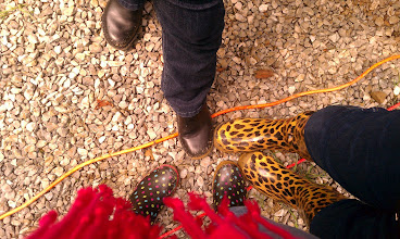 Photo: It was muddy, which means after about an hour all us galoshes-wearing nerds were feeling pretty smug.