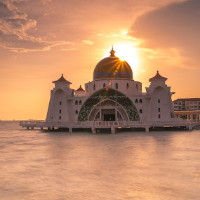 Strait Mosque ,Malacca by Jack Lim - Landscapes Sunsets & Sunrises