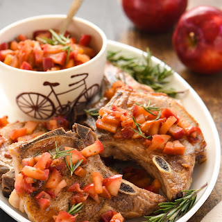 Pork Chops with Spicy Applesauce.