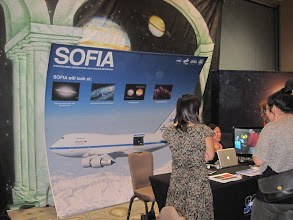 Photo: The NASA Ames folk brought information about SOFIA, the Stratospheric Observatory for Infrared Astronomy
