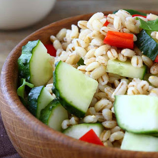 Barley Salad with Mint, Cucumber & Olives