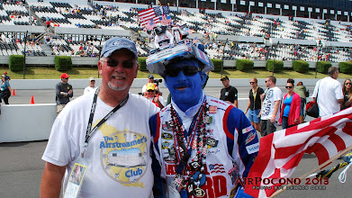 Photo: Obie posing with a mild-mannered Earnhardt fan.  You should see the crazies! ;-)