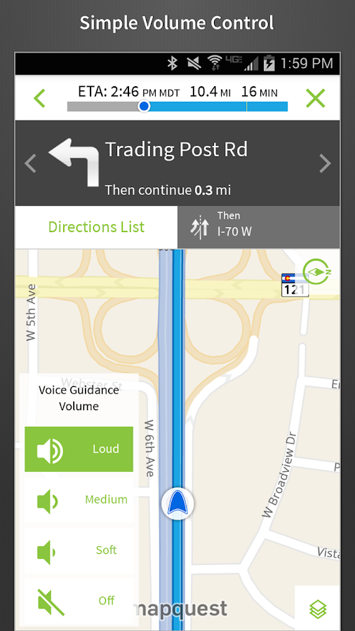 MapQuest GPS Navigation & Maps - screenshot