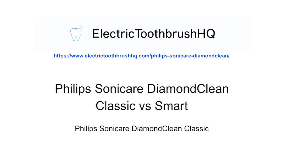 Philips Sonicare DiamondClean Resources - cover