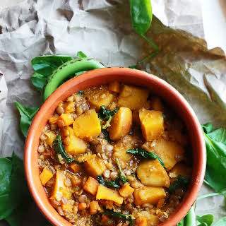 Curried Butternut Squash and Lentil Stew.