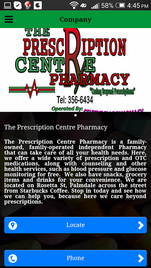 Prescription Center- screenshot