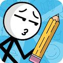 Draw puzzle: sketch it icon