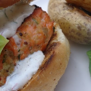 Grilled Trout Burger