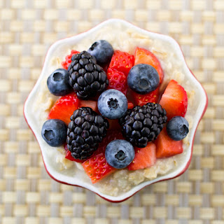 Triple Berry Oatmeal for One