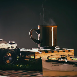 Elevate your mind by Naser Eid - Artistic Objects Still Life ( reading, coffee, mood,  )