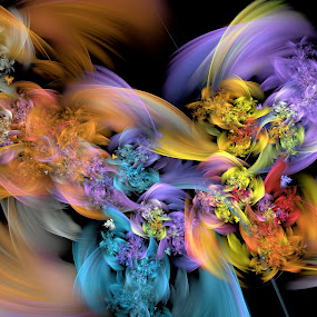 Floral Smoke by Peggi Wolfe - Illustration Abstract & Patterns ( abstract, wolfepaw, bright, color, vibrant, fun, fractal, digital, smoke, flower, floral )