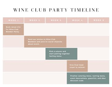 Wine Party Timeline - Holiday & Event template