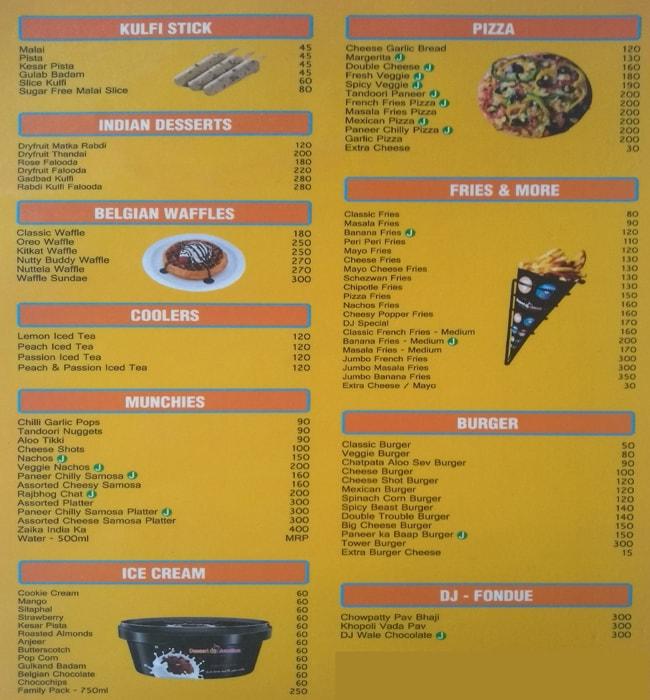 Dessert Junction menu 2