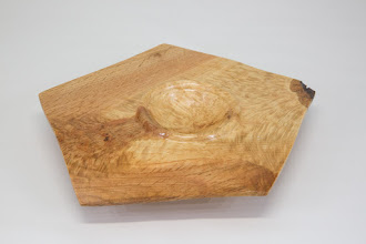 "Photo: Tim Aley 6"" x 1"" pentagon bowl [oak]"