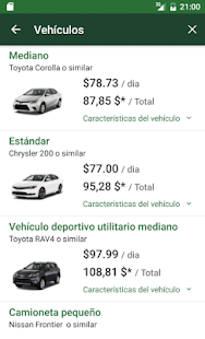 National Car Rental: miniatura de captura de pantalla