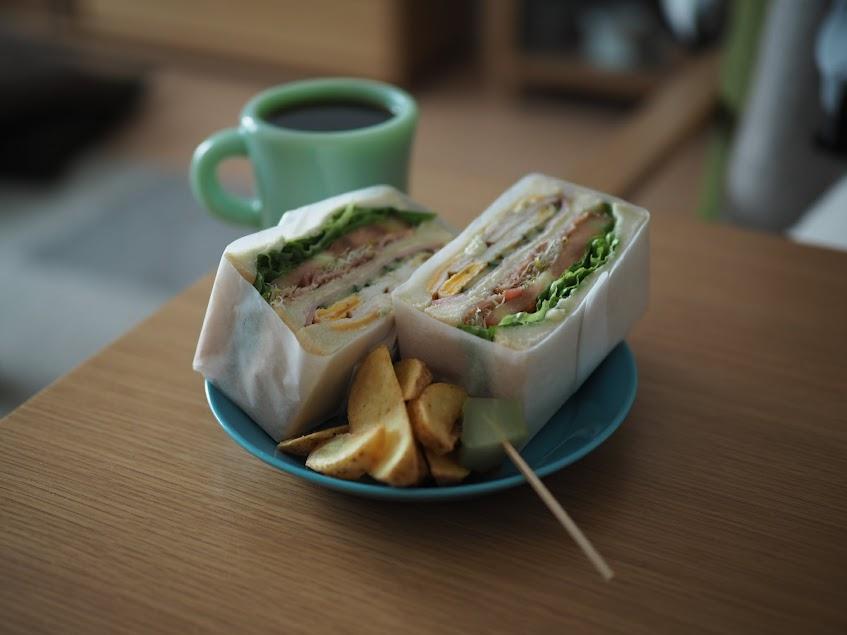 ビートニックカフェのサンドイッチ