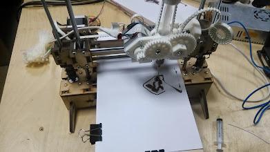 Photo: Процесс печати шоколадом