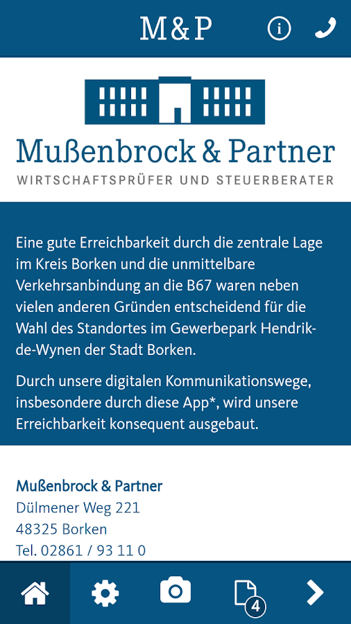 Mußenbrock & Partner- screenshot