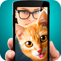 Selfie photo with cat icon