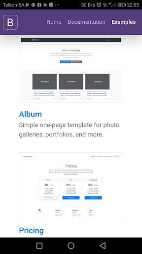 Bootstrap 4 0.1.4 screenshots 5