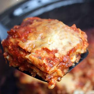 Slow Cooker Lasagna.