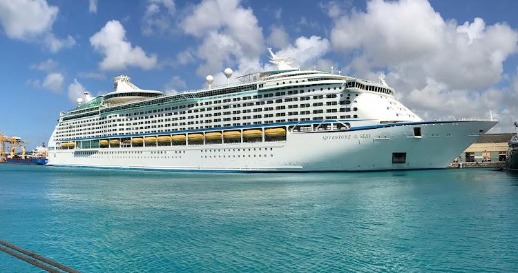 Adventure of the Seas docked in Bridgetown, Barbados.