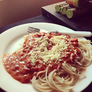 Filipino Style Spaghetti.