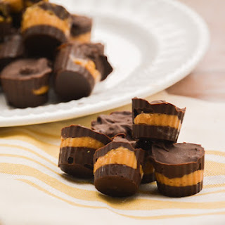 Copycat Justin's Dark Chocolate Peanut Butter Candy Cups.