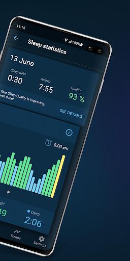 Sleepzy: Alarm Clock & Sleep Cycle Tracker 2.5 screenshots 2