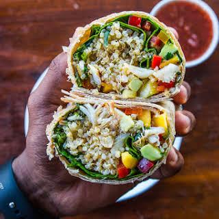 Tropical Quinoa & Cod Burrito.