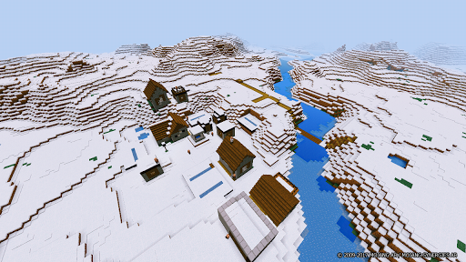 The Arctic Village Minecraft Map for PC
