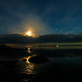 Seaside by Juliusz Wilczynski - Landscapes Waterscapes ( sweden, night photography, waterscape, #GARYFONGDRAMATICLIGHT, #WTFBOBDAVIS )