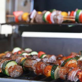 Grilled Bratwurst Kabobs.
