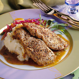 Pork Medallions with Maple-Vinegar Sauce.