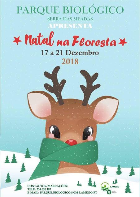 """""""Natal na Floresta"""" segunda-feira no Parque Biológico da Serra das Meadas"""