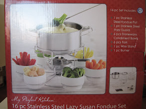 Photo: Lazy Susan 16pc stainless steel FOUNDUE SET
