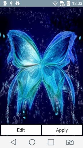 Blue butterfly live wallpaper
