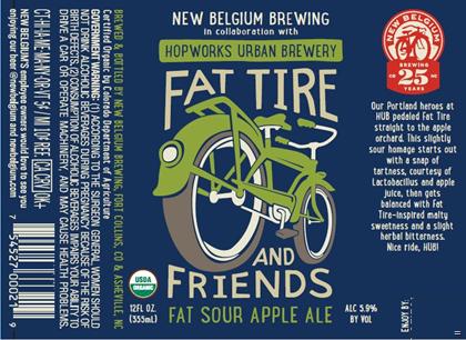 Logo of Fat Tire & Friends Fat Sour Apple Ale