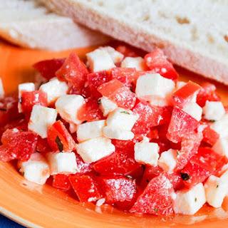 Tomato Mozzarella Bruschetta.