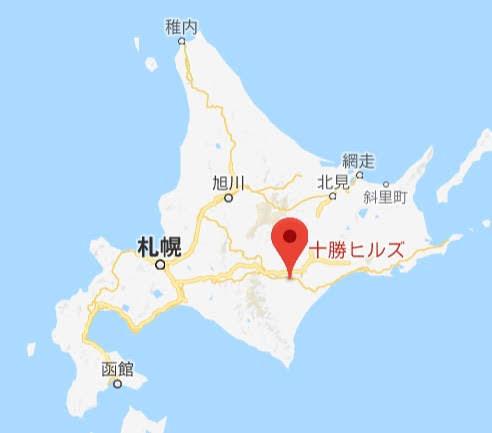 地図:十勝ヒルズ