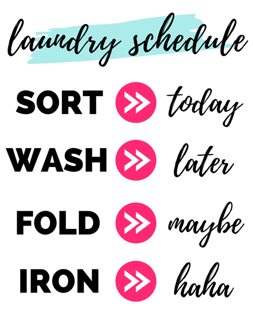 Laundry Room Schedule