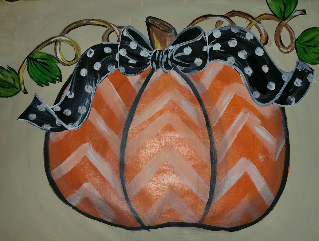 cheveron pumpkin paint nite
