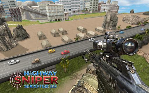 Highway Sniper 3D Shooter: Free Shooting Game  captures d'écran 1