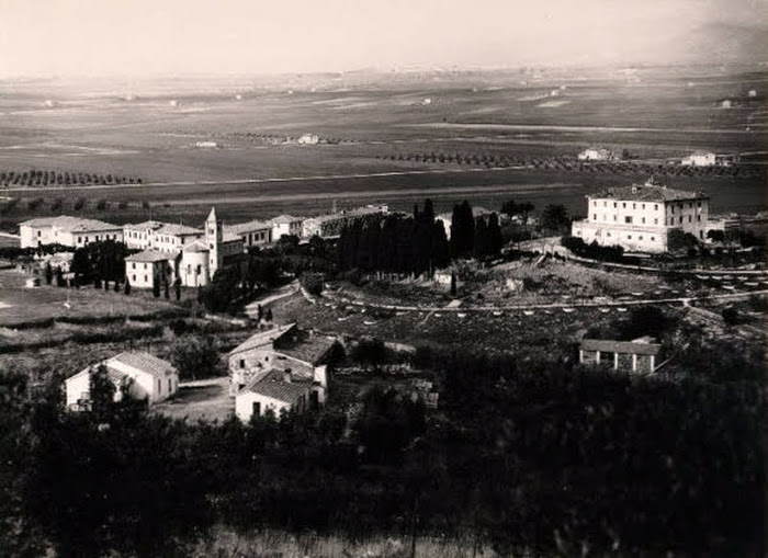 Alberese e Villa Granducale, vecchia carta postale